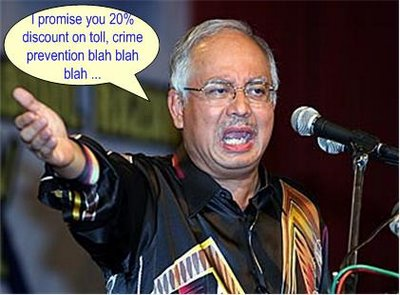 Najib 100th Day promises