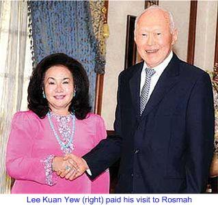 Lee Kuan Yew visit Rosmah