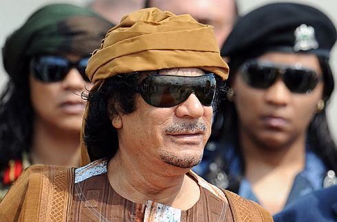 Dictator Muammar Gaddafi