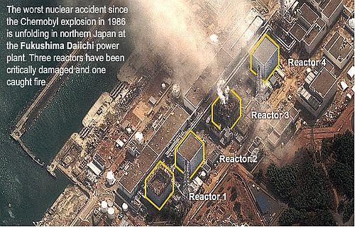 Fukushima Daiichi power plant at risk