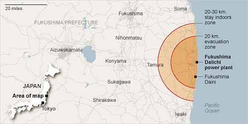 Japan Evacuation Zone