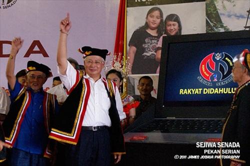 BN Najib Sarawak Elections 1Malaysia