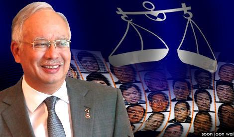 BN Najib Sarawak Elections 2011