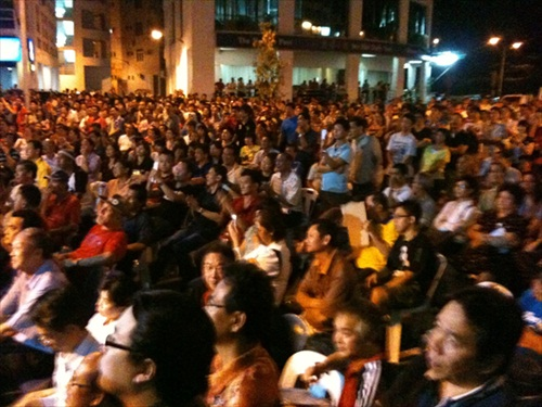Opposition Crowds at Miri