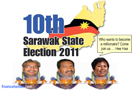 Sarawak Election 2011 Frogs Switch Camp Factor
