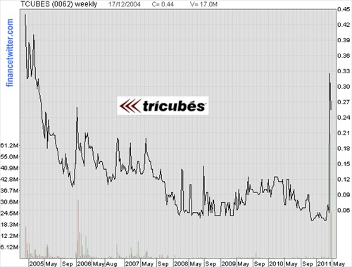 Tricubes Shares Stock Performance