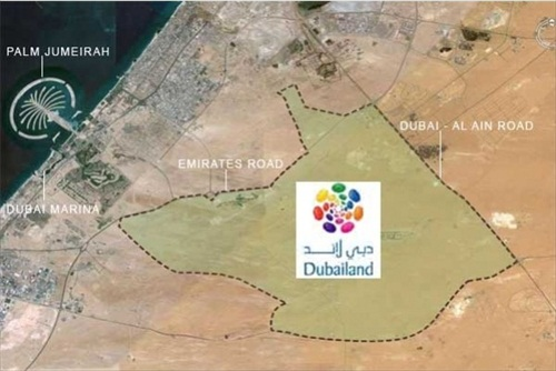 Dubailand Location