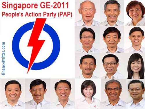 Singapore General Election 2011 PAP Candidates