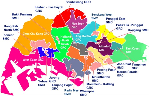 Singapore General Election 2011 Seats
