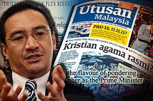 Utusan Malaysia and Hishammuddin about Christians Conspiracy