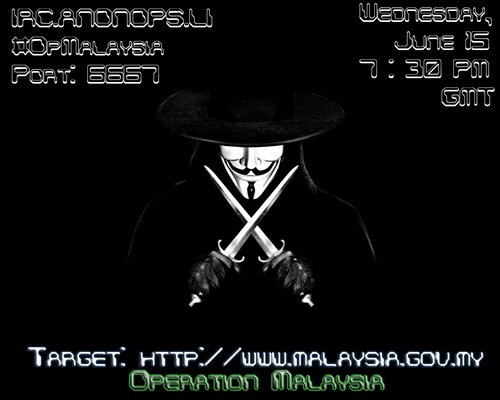 Operation Malaysia Anonymous Hackers