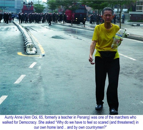 Bersih 2.0 Rally Aunty Anne Lone Adventure