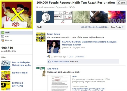 Facebook 100000 Ask Najib Resignation