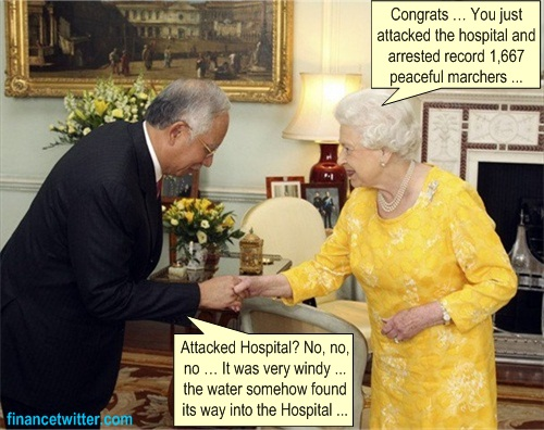 Najib Queen Elizabeth Yellow Dress