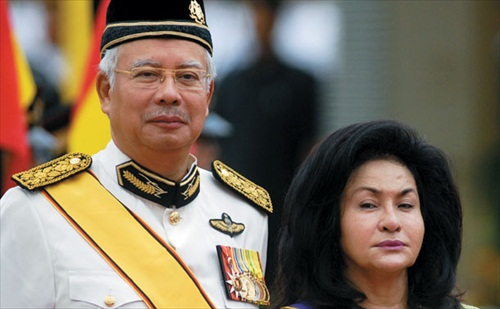 Najib Razak and Rosmah Mansor