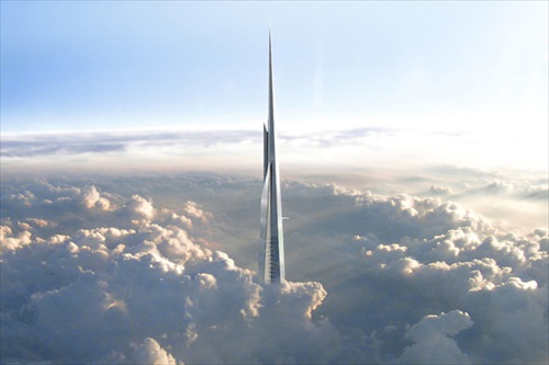 Kingdom Tower Above Cloud