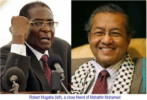 Mahathir Mohamad and Robert Mugabe