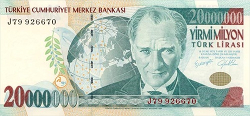Turkey – 20 million lira, 1997