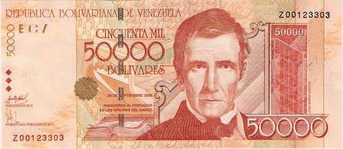 Venezuela – 50,000 bolívares, 2002