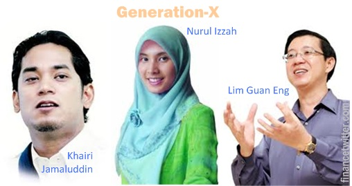 Generation X - Khairi Jamaluddin, Nurul Izzah, Lim Guan Eng