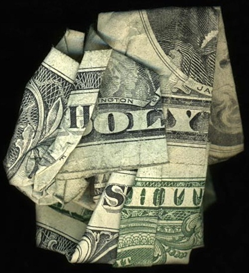 Hidden Message Dollar Bills Holy Shit