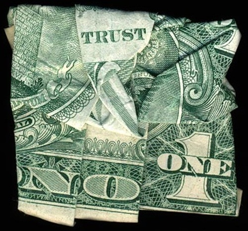 Hidden Message Dollar Bills Trust No One