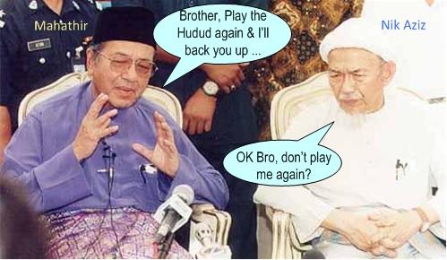 Hudud laws Mahathir Nik Aziz
