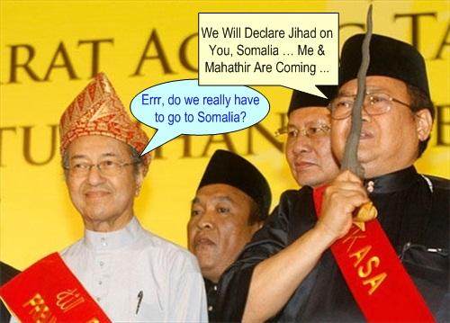 Ibrahim Ali Mahathir Somalia Holy War Jihad