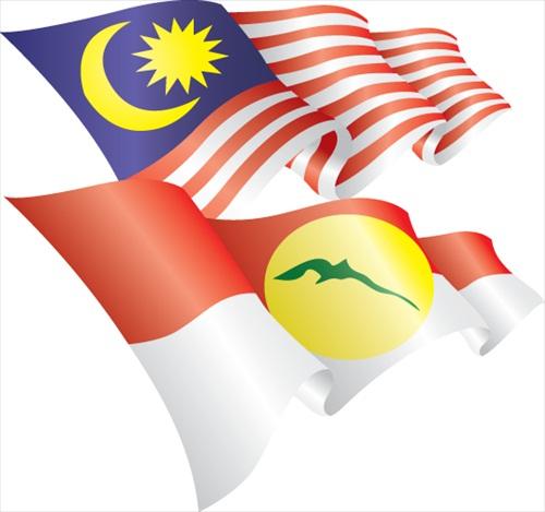 Malaysia Flag UMNO Flag