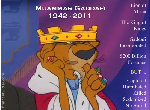 Gaddafi Death 1942 to 2011