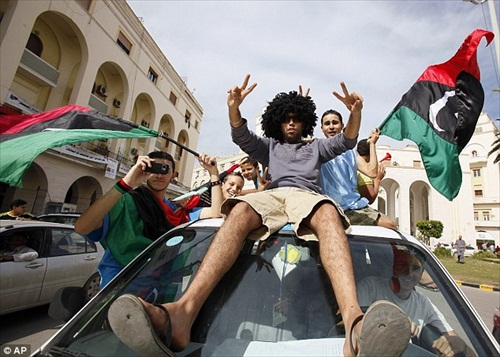 People Celebrate Gaddafi's Death