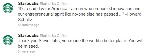 Steve Jobs Died Tributes from Howard Schultz