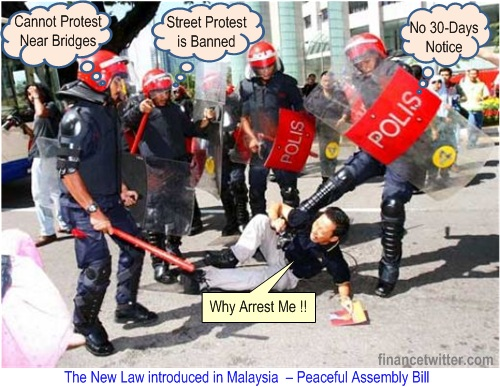 Malaysia New Peaceful Assembly Bill