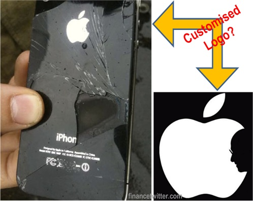 iPhone 4 Caught Fire In Flight Customised Logo