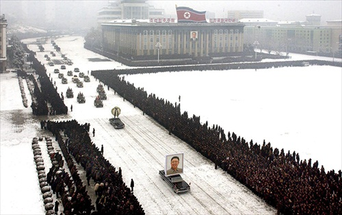 Kim-Jong-Il-Funeral Military Procession
