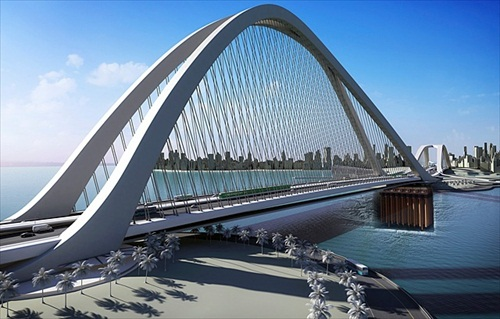 Kuwait Madinat Al Hareer Jaber Al Ahmed Bridge