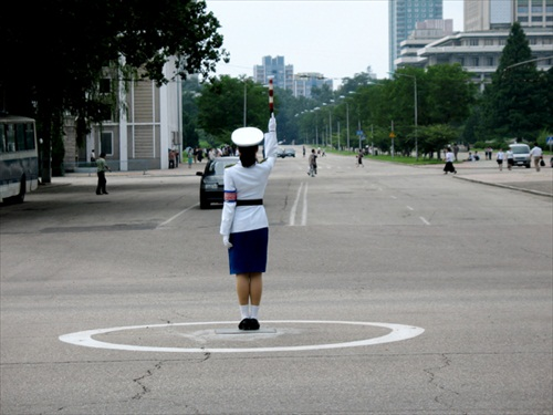 North Korea Pyongyang Intersection