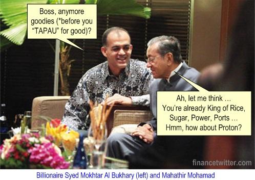 Proton Syed Mokhtar Al Bukhary and Mahathir Mohamad