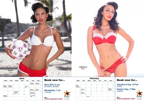 Ryanair Sexy Cabin Crew Calendar 2012