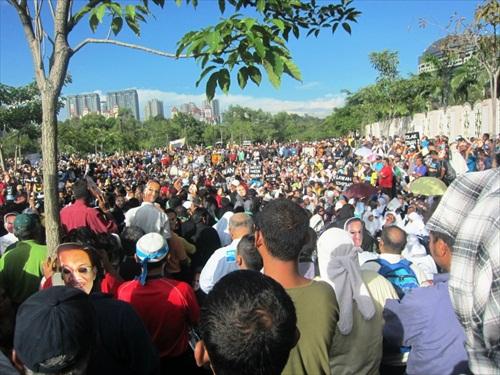 Anwar Sodomy Verdict Crowds