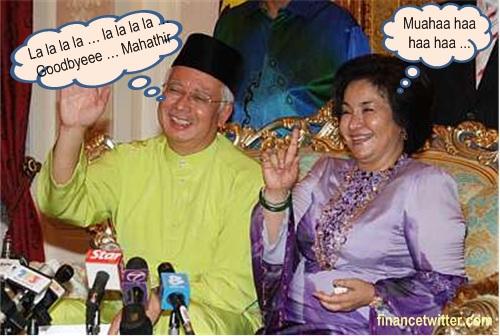 Najib Rosmah Bye Mahathir
