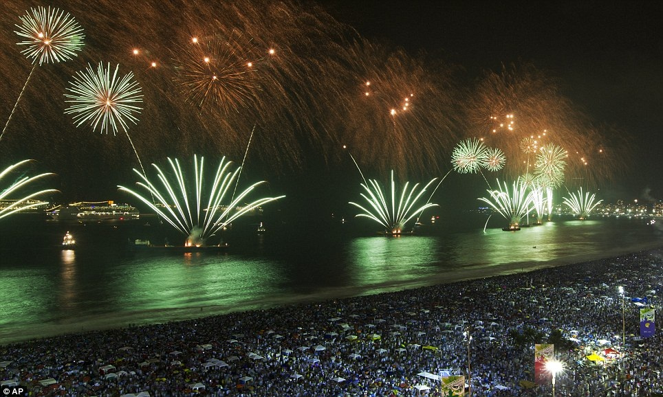 New Year 2012 Fireworks - Brazil Rio de Janeiro