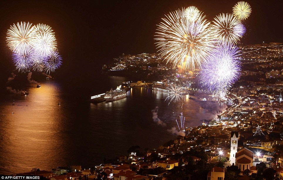 New Year 2012 Fireworks - Portugal