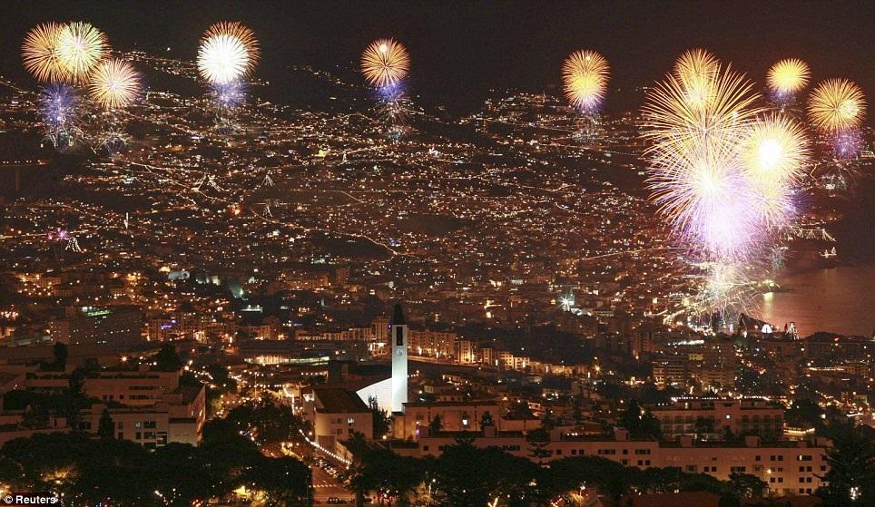New Year 2012 Fireworks - Portugal