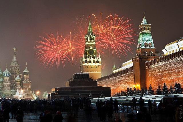 New Year 2012 Fireworks - Russia Moscow