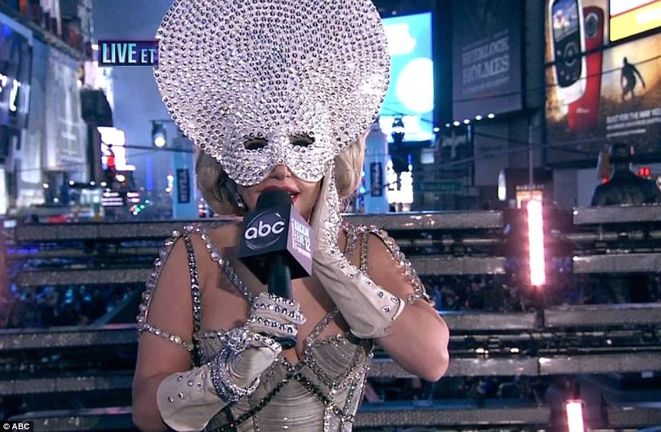 New Year 2012 Fireworks - USA New York Times Square, Lady Gaga Performance