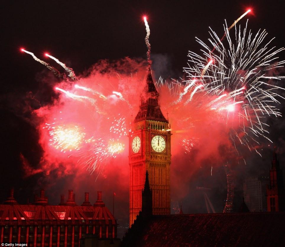 New Year 2012 Fireworks - United Kingdom London