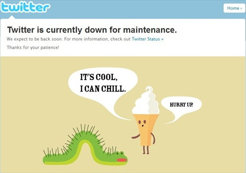 New Year 2012 Twitter overload - Down for Maintenance