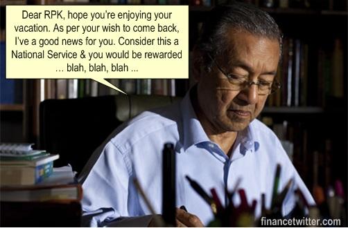 Raja Petra RPK Switch Sides - Mahathir