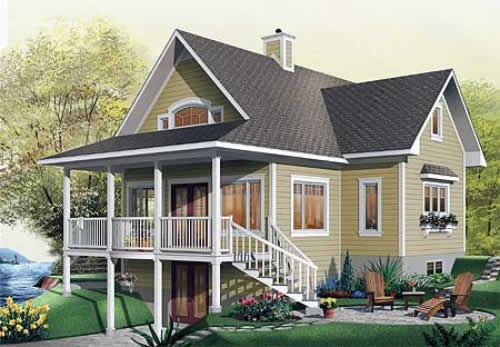 House plans and design house plans canada walk out basement for Walkout basement house plans canada